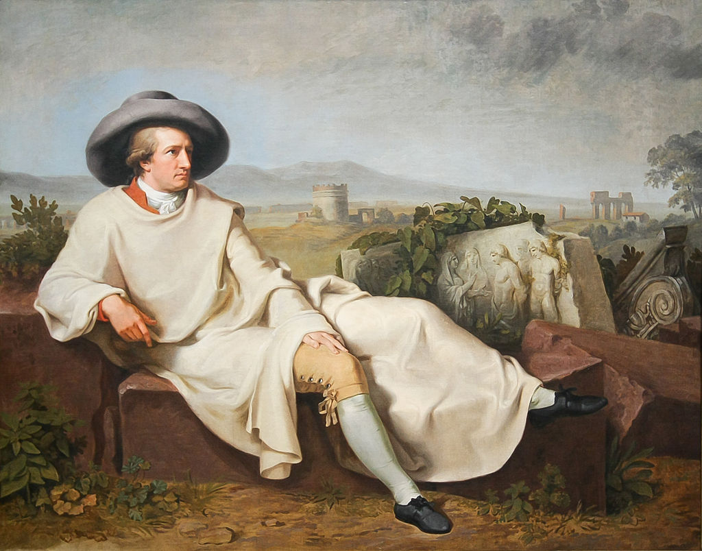 Tischbein's portrait of Goethe in the Roman Campagna (Wikimedia Commons)