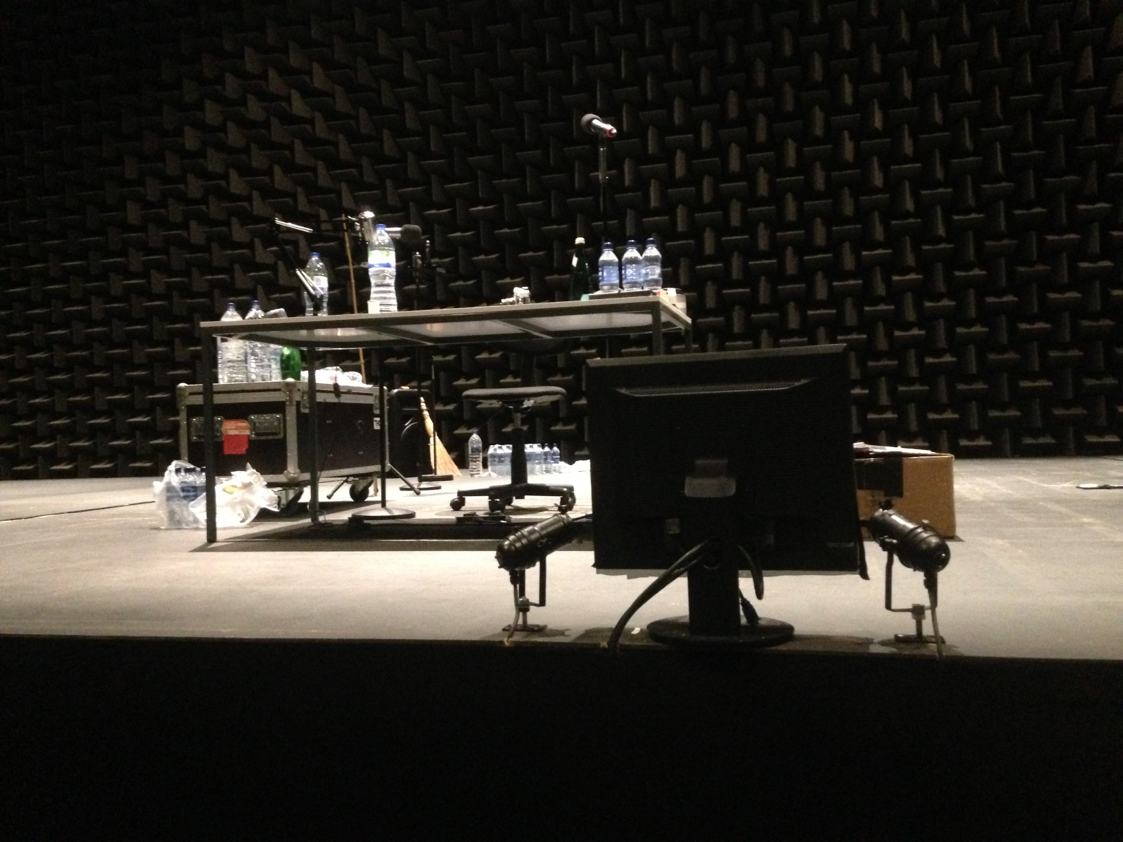 Stage set of The Encounter, Edinburgh International Festival