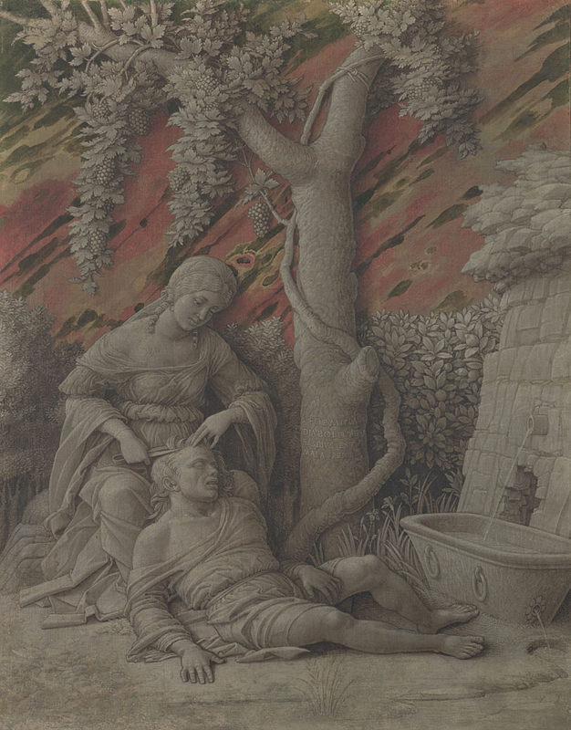 Andrea Mantegna, Samson and Delilah, About 1500. National Gallery, London, image licensed CC-BY-NC-ND 4.0