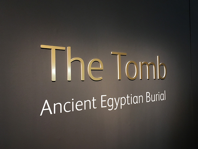 Entering the Tomb Exhibition at the National Museum