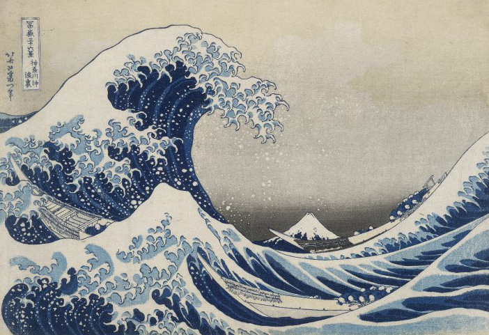 Under the Wave off Kanagawa 'The Great Wave', 1831. Image British Museum (CC BY-NC-SA 4.0)